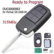 For Pontiac G8 2008 2009 Remote Key Fob 315mhz 4+1 Button Ouc6000083 92237316