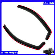 2pcs 3d In-channel Sun Rain Guard Vent Shade Window Visor For Honda Civic 01-05