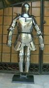 Sca Medieval Suit Of Armor 17th Century Combat Full Body Armour W Base