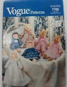 Vogue Sewing Pattern 14 16 Doll Bunny Rabbit Clothes New Vtg 1990 Linda Carr