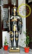 Medieval Stainless Steel Rust Fre Full Body Wearable Knight Armor Suit Halloween