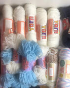 Vintage Large Mix Lot Yarn 37 Still In Wrapper 25 To 30 Loose Little Over 13 Lb