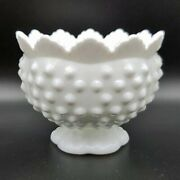 Fenton Milk Glass White Hobnail Round Footed Candle Holder 3 Way Sizes Pre-1974