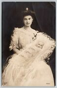 Royaltygermany Crown Princess Cecilieinfant Wilhelm Christening Gown1906 Rppc