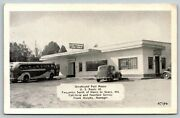 Havre De Grace Mdgreyhound Bus @ Post House Cafeteria And Fountainroute 401940s