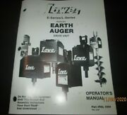 Lowe E And L Series Earth Auger Drive Unit Operator's Parts Manual Original Oem