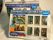 Nip Bundle Lot Collectible Promo Lunchbox Tmnt/out Of The Shadows And Gift Set