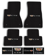 Lloyd Mats For 20-up Cadillac Ct5 | Luxe Carpet Floor Mats - Choose Logo And Color