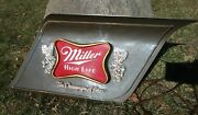 Vintage Miller High Life Lighted Sign-the Champagne Of Beers-great Condition