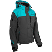Castle X Powder G3 Womenand039s Snowmobile Jacket - Turquoise/charcoal