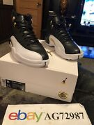 Nike Air Jordan Retro 12 Wings Playoffs Taxi Black And Gold Js Deadstock Mens 11