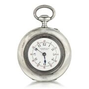 Antique And Co Pocket Watch 1910andrsquos Circa Sterling Silver Black Arabic Hour
