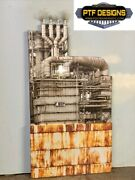 G Scale Scratch Built The Oil Refinery Tank Industrial Front/flat Lgb Piko