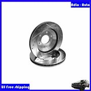 Fit Buick/gmc/chevy/isuzu 2pc Front L+r Drilled Slotted Vented Disc Brake Rotors