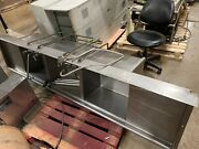 """3 Bay Stainless Steel Commercial Sink With 2 Drainboards 109""""l X 29""""d X 33""""w"""