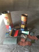 Vtg Tire Tube Repair Patch Kit 6-7478 Air-tite, Whiz Metal Can + Misc Items Used