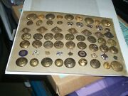 Old Collection Military Uniform Buttons+bonus Old Pins