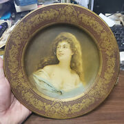Old 1905 Vienna Art Tin Plate Wagner Fancy Maroon And Gold
