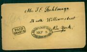 1850's, Swarts P.o. Chatham Square, New York Local Handstamp, Vf