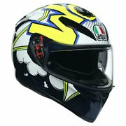 Agv K3 Sv Bubble Gloss Blue White Maxvision Pinlock Fast And039n Free Shipping