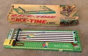 Battery Operated Race - Time By Marx Vintage,big Rare Horse Racing Tin Toy Boxed
