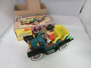 Vintage Battery Opperated Old Fashioned Car Toy Original Box Japan 95-