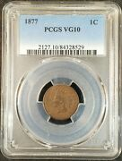 1877 Indian Head Cent Pcgs Vg10 2127.10/84328529 Exquisite Coin Rare