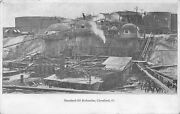 Cleveland Ohiostandard Oil Refineriesdown In The Pits1905 Bandw Postcard