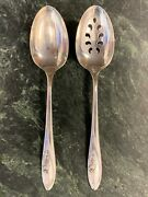 Towle Sculptured Rose Sterling 8-1/2 Silver Serving Spoon Set -ships Free-