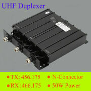 Uhf Duplexer 6 Cavity 50w Power N-connector 8-10mhz 500khz For Radio Repeater