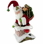 Katherineand039s 22 Santa Climbing Chimney Christmas Tree Topper Table Top 28-828324