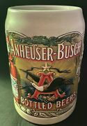 Anheuser-busch Bottled Beers Stein W/collectible Tin Used Budweiser