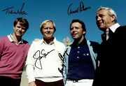 Arnold Palmer Jack Nicklaus Gary Player And Tom Watson Signed 12x8 Photo Aftal Coa