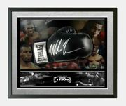 Iron Mike Tyson Signed And Bubble Framed Boxing Glove Aftal Coa A