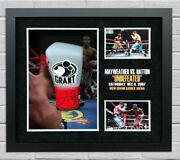 Floyd Mayweather Signed And Framed Boxing Glove Ricky Hatton Tbe Tmt Aftal Coa F