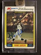 2017 Topps Archives Hank Aaron Kmart 20th Anniversary 1982 Auto Braves 5/12 Ssp