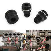 Rear Block Breather Fittings And Plug For B16 B18c Catch Can M28 To 10an