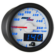 52mm White And Blue Maxtow Double Vision Transmission Temperature Gauge
