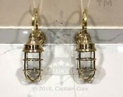 Nautical Arched Swan Exterior Antique Galvanized Wall Decoration Light Lot Of 2