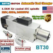 『in Usa』4.5kw Bt30 220v Automatic Tool Change Atc Air Cooled Spindle Motor 800hz