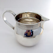 Modern Water Pitcher Old Newbury Crafters Sterling Silver 1960s