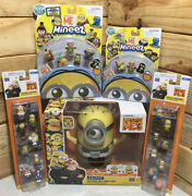 Despicable Me 3 Lot Of 5 Me3 Jail Time Carl Deluxe Talking Minion + Mini Figures