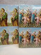 Lot/1,600 Cards Mary Joseph Baby Jesusnmicro Perforated Holy Cards 2.5 X 4.25
