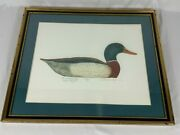 Lawrence Snyder Signed And Framed 1938 Ward Mallard Decoy Etching 261 Of 350