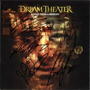 Dream Theater Scenes From A Memory Fully Signed 12 Flat Pull Me Under Autograph