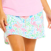 Nwt Ibkul Flamingo Turquoise Pink Golf Tennis Straight Skort Sizes Xs S L And Xl