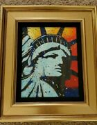 Stephen Fishwick Statue Of Liberty Patriotic Live Painting-read Story Peter Max