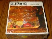 Vintage Parker Brothers Puzzle - New Hampshire Farm In The Fall - Sealed 728pc