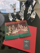 Waterford Crystal Millennium Red Boxes Nativity Rare Seahorse Seal Signed