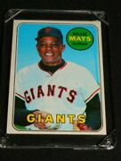 1969 Topps Willie Mays Giants 190 Mint - Great Investment And Collectible